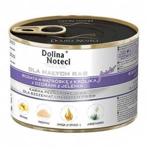DOLINA NOTECI Premium Junior dla małych ras – bogata w wątróbkę z królika z ozorami z jelenia