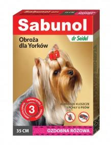 SABUNOL obroża ozdobna przeciw pchłom i kleszczom dla psa – różowa