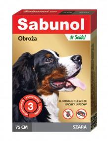 SABUNOL obroża przeciw pchłom i kleszczom dla psa – szara