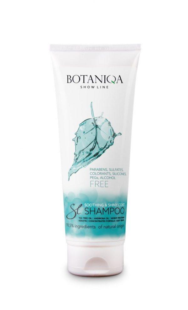 BOTANIQA Show Line Soothing&Shiny Coat Shampoo – szampon do bardzo wrażliwej lub podrażnionej trymowaniem skóry