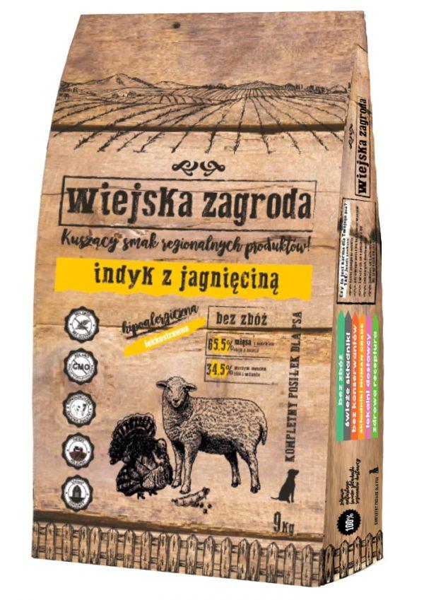 WIEJSKA ZAGRODA indyk z jagnięciną – bezzbożowa