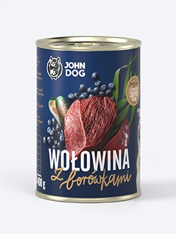 JOHN DOG berry line – wołowina z borówkami
