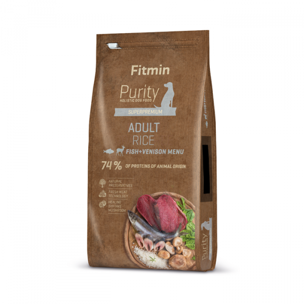 Fitmin Purity dog Rice Adult Fish / Venison