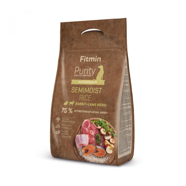 Fitmin Purity dog Rice Semimoist Rabbit Lamb – karma półwilgotna