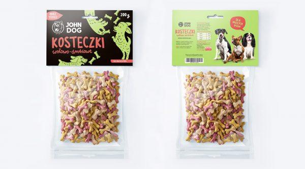 JOHN DOG ciasteczka dla psa kosteczki wołowo-drobiowe