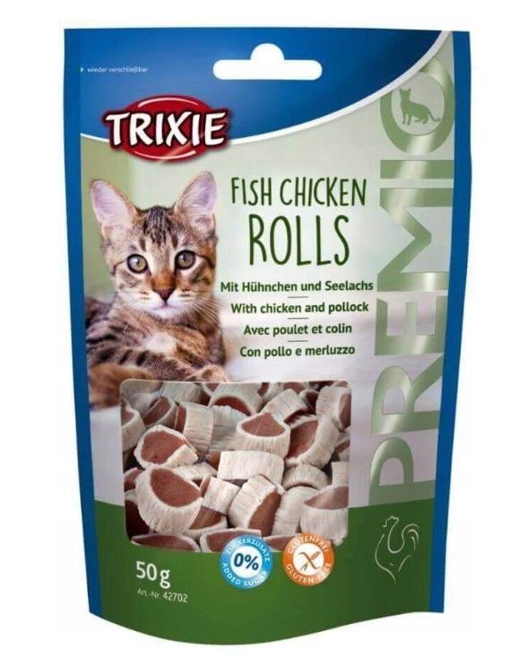 Trixie Fisch Chicken Rolls – kurczak , łosoś