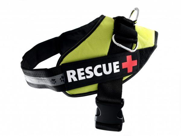PET NOVA szelki dla psa RESCUE – jasnozielone