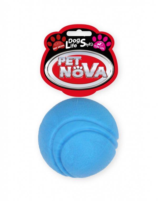 PET NOVA piłka gumowa 5 cm – niebieska