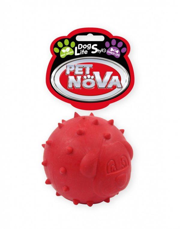 PET NOVA piłka na przysmaki 6,5 cm – czerwona