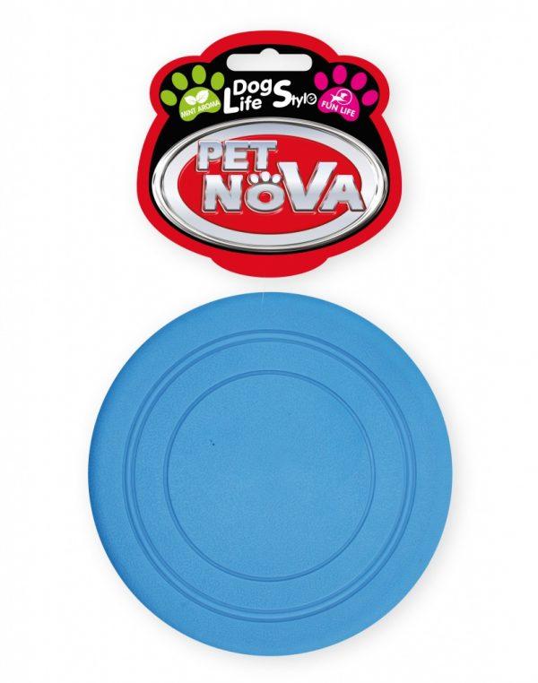 PET NOVA Frisbee 18cm niebieskie, aromat mięta