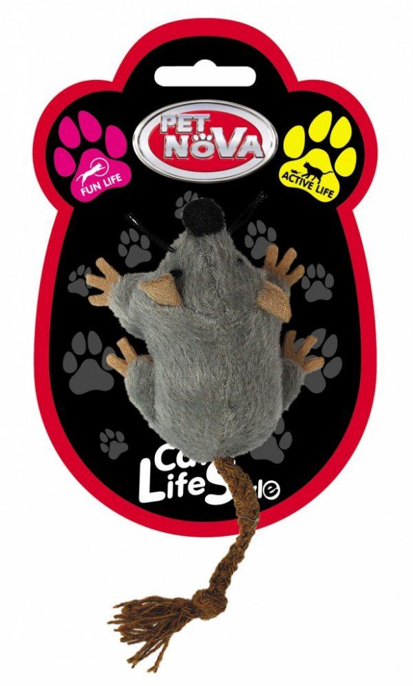 PET NOVA zabawka dla kota – myszka pluszowa
