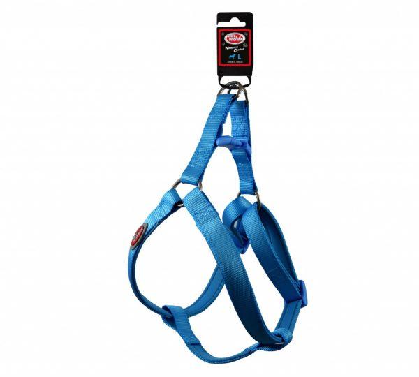 PET NOVA szelki nylonowe z podszyciem neoprenowym – błękitne