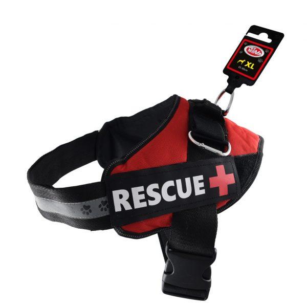 PET NOVA szelki dla psa RESCUE – czerwone