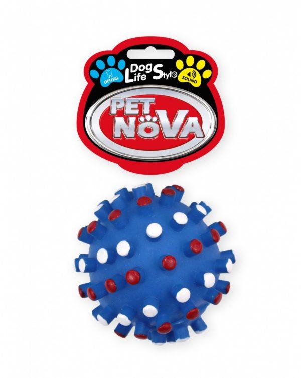 PET NOVA piłka jeż – niebieska